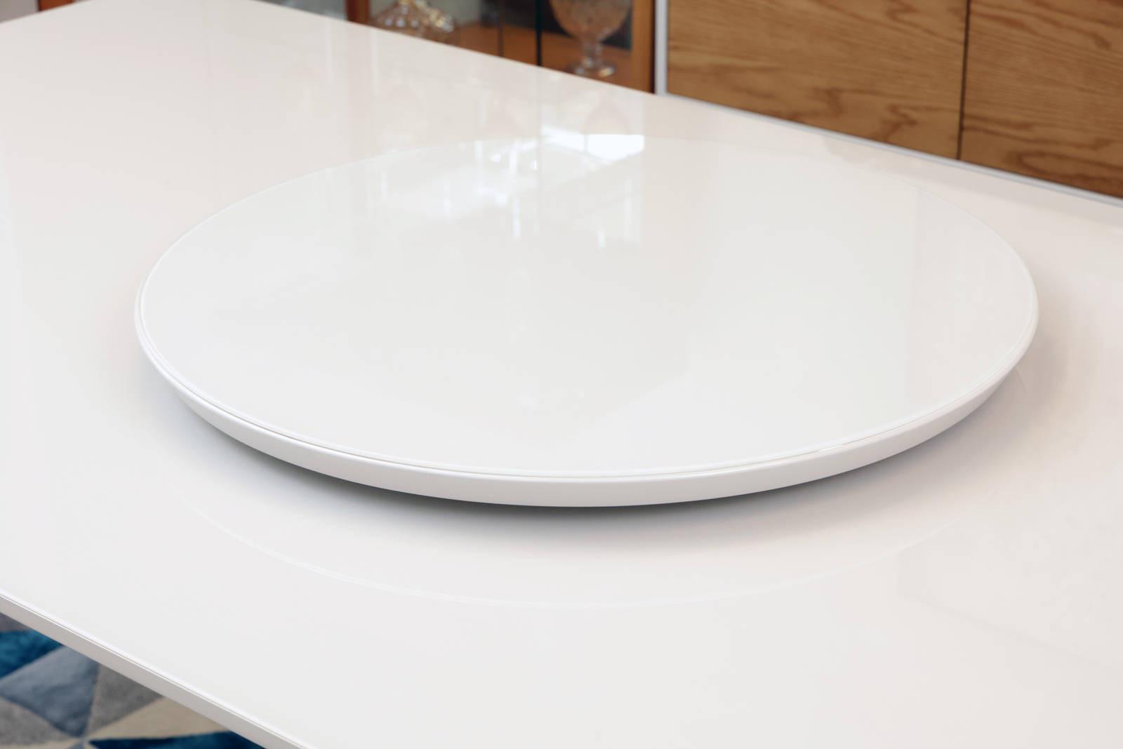 Prato Giratório Off White Para Mesa de Jantar