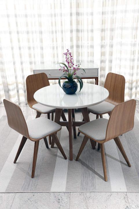 Sala de Jantar Ibiza com Cadeiras Lidiane