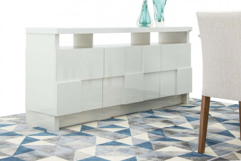 Buffet Dalla Costa Quadriculado Off White