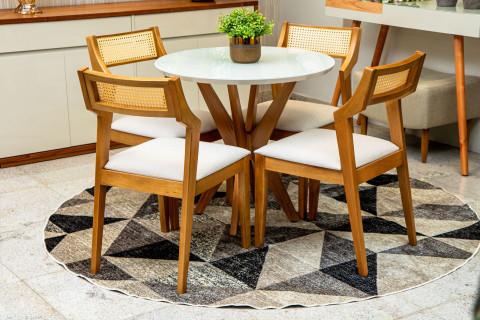 Mesa de Jantar Turim Com Cadeiras Alabama