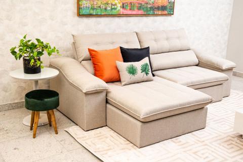 Sofá Retrátil e Reclinável Confort 2,60Mts