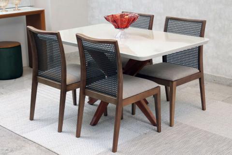 Mesa de Jantar Com Cadeiras Carolina