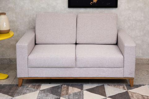 Sofá Conceito Plus Fixo Com Almofadas Soltas Tecido Linho 78