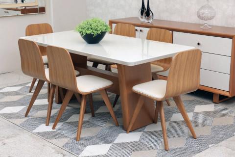 Sala de Jantar Monique com Cadeiras Lidiane