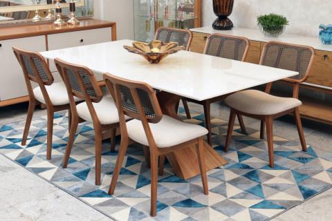 Sala de Jantar Tango com 6 Cadeiras Floripa