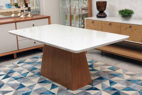 Mesa de Jantar Triunfo Gênova 1,80 x 1,00 Off White / Freijó