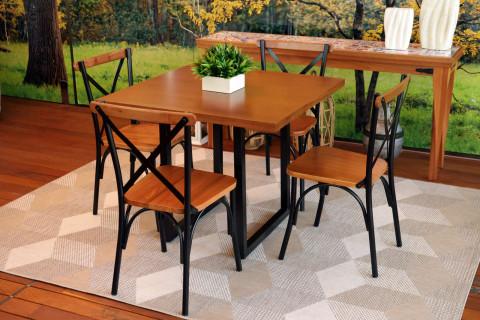 Conjunto de Varanda Art Luxo Laís com 4 cadeiras