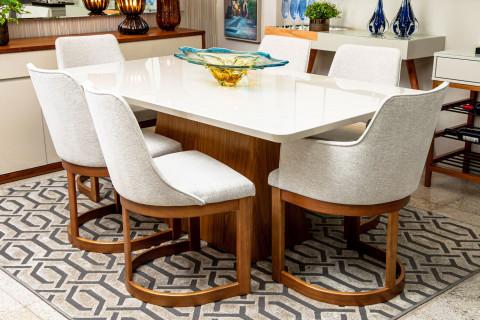 Mesa de Jantar Gênova 1,80Mts com Cadeiras Itacadeiras