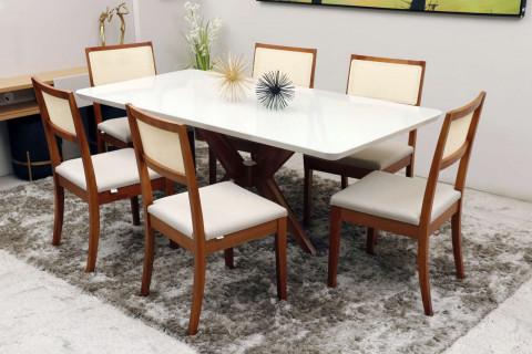 Mesa de Jantar com 6 Cadeiras Herval