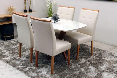 Mesa de Jantar com 4 Cadeiras Ipanema