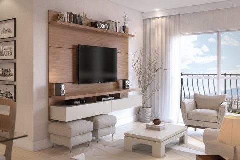 Home Suspenso 2,20Mts Natural/Off White