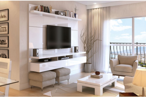 Home Suspenso City 2,20Mts Todo Branco