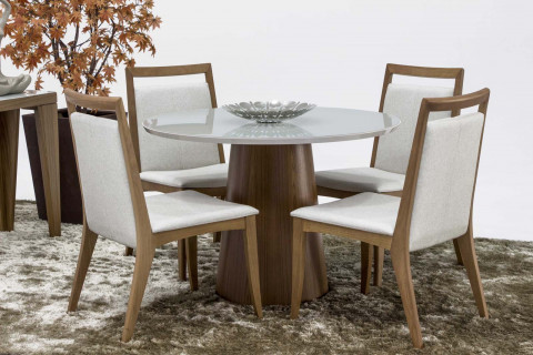 Mesa de Jantar Triunfo Londres Com 4 Cadeiras Ane