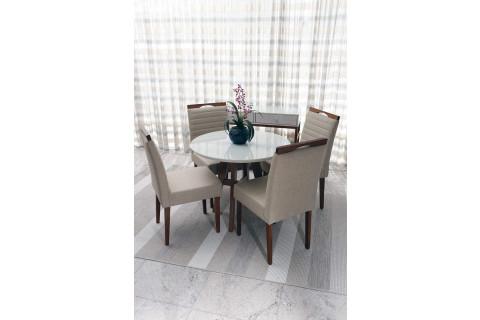 Sala de Jantar Ibiza com Cadeiras Dallas