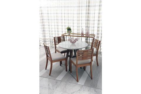 Sala de jantar Triunfo Ibiza com Cadeiras Locatelli