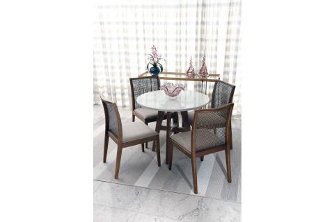 Sala de Jantar Triunfo Ibiza com Cadeiras Prisma Carolina