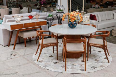 Sala de Jantar Triunfo Londres com Cadeiras Madre Silva