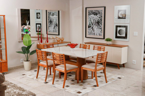 Sala de jantar Triunfo Imperial com Cadeiras Locatelli