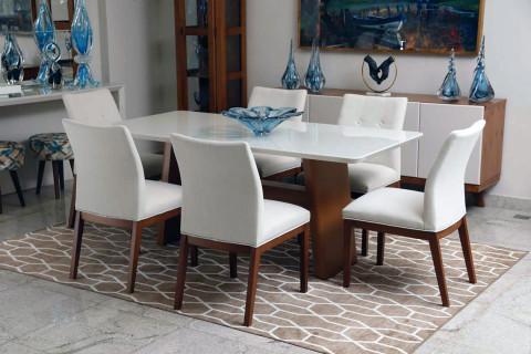 Sala de Jantar Triunfo Monique com cadeiras sier