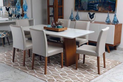 Sala de Jantar triunfo Monique com cadeiras Gottems Viena
