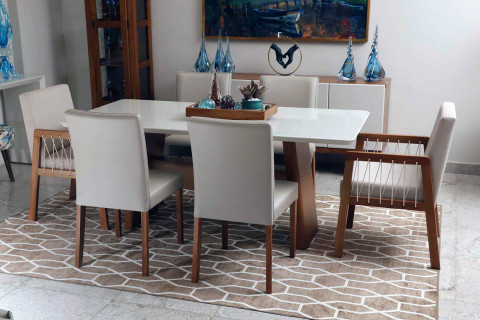 Sala de jantar Triunfo Monique com Cadeiras viena e Luna