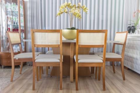 Mesa de Jantar Paris com Cadeiras Herval