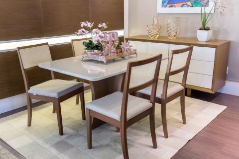 Sala de Jantar Vitória com Cadeiras Herval