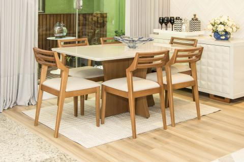 Sala de Jantar Vitória com Cadeiras Bella