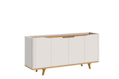 Buffet 4 portas Off White/Nature