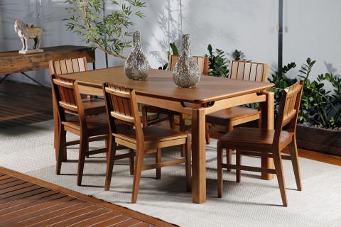 Mesa com 6 Cadeiras Para Varanda Nevada