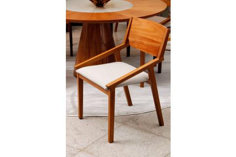 Cadeira design minimalista em madeira maciça