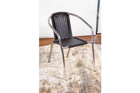 Cadeira de Alumínio com Junco Castanho