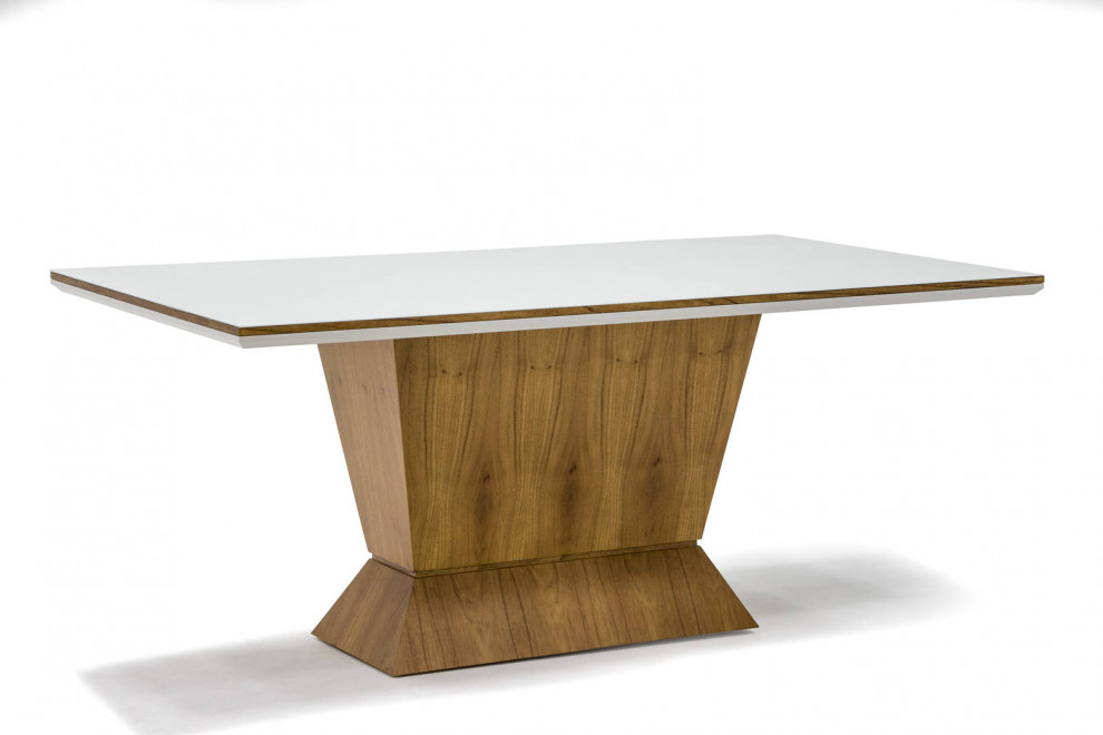 Mesa de Jantar Art Decor Delirium 180x100 Cinamomo/ Off White